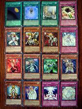 LIGHTSWORN 16 card yugioh set incl 5 holos, 2 rares, spells, traps