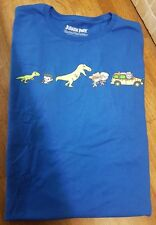 Loot Crate Jurassic Park Men's L T-Shirt Blue Dinosaur Kawaii Pop Art