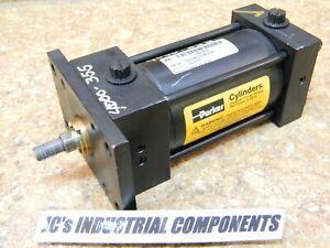 "Parker  2-1/2""  bore  X  3""  stroke    pneumatic cylinder  250 PSI"