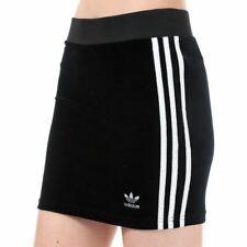 Women's adidas Originals 3-Stripes Tight Fit Sporty Pencil Skirt in Black