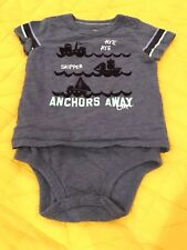 OshKosh B'gosh Baby Toddler Boys' Anchors Away Blue Bodysuit Shirt 18 Months