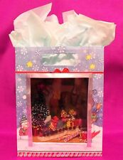 Dollhouse Miniature 1:12 Scale Santa's Workshop Scenario Roombox in a Gift Bag