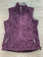 Women's MOUNTAIN Hard Wear Plum Full Zip Fuzzy Fleece Vest Size Small