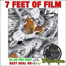 Hydrographic Film Camo Snow Buck Winter Snow 7 X 20 Real Oak Tree Timber Mossy