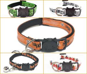 Cat Collars - Halloween Design   Pet Collars   Quick Release Breakaway Buckle