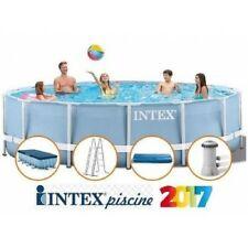 PISCINA INTEX FUORITERRA 549x122 PRISMA CON POMPA E SCALA ROTONDA TONDA FULL