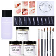 BORN PRETTY Acrylic Powder Liquid System Kit with Nail Brush False Tips Cup Set