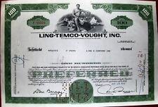 Stock certificate Ltv Ling-Temco-Vought, 100 shares State of Delaware