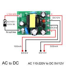 Mini Ac-Dc Converter Ac110V 220V to Dc 12V 0.2A+5V Module Board Vv