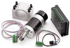 CNC 400W Brushless Spindle Motor ER11 &driver speed controller & Mount engraving