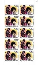 JIMI HENDRIX Singer Songwriter Musician Rock Music Stamp Sheet (2011 Burundi)