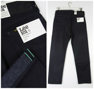 NEW LEE 101B 1946'  COWBOY JEANS  DRY/RAW SELVEDGE DENIM WOVEN IN JAPAN W32 L32