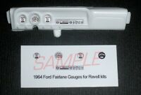 1964 FORD FAIRLANE GAUGE FACES for 1/25 scale REVELL KITS