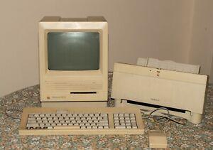 Macintosh SE-30 Vintage Computer, keyboard, mouse and StyleWriter-II printer