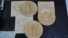 Aida, Carmen, Barber of Seville Issue La Scala Grand Opera Ivory Alabaster Plate