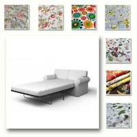 Custom Made Cover Fits IKEA EKTORP Two Seat Sofa Bed, Sleeper Cover, Patterned