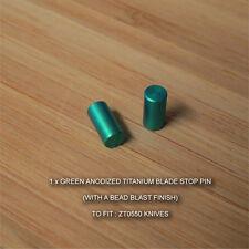 Zero Tolerance ZT0550 550 ZT Knife Anodized Titanium Blade Stop Pin - GREEN