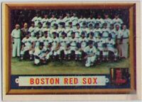 1957 Topps #171 Boston Red Sox Team VG-VGEX+ Wrinkle Ted Williams  FREE SHIPPING