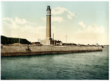 Dunkerque. Le phare. PZ vintage photochromie,  photochromie, vintage photochro