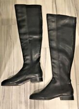 Steve Madden ERUPT women Knee High Black Leather Tall Boots Winter Shoes 6.5 NEW