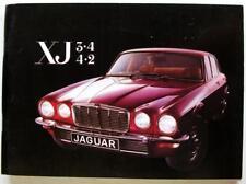 JAGUAR XJ 3.4, 4.2 Series 2 1977 E.200/7 Original Car Owners Handbook