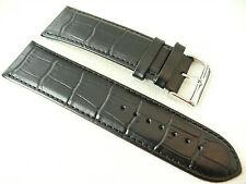Original OSO Herren Uhrenarmband Ersatz Echtleder Bracelet 28 mm Schwarz Kroko