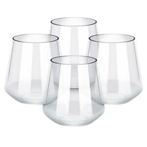 4pcs/set Unbreakable Plastic Red Wine Glass Transparent Whiskey Beer Cup