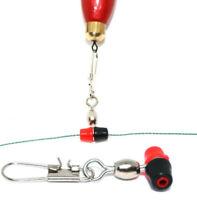 10 Stück PERLEN-LAUF-WIRBEL für Angelpose Blei Futterkorb Posenadapter Posen