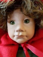 "JULIE GOOD-KROGER 16"" Doll Little Red Riding Hood Porcelain Jointed Elbows/Knees"