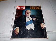 PARIS-MATCH 1965 MORT DE WINSTON CHURCHILL ANGLETERRE 2e GUERRE 39/45 ENGLAND