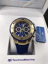 TECHNOMARINE Sea Manta Chrono Blue/Gold Men's Watch TM-218031 NEW!