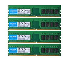 Crucial 32 GB DDR4 RAM 4x 8GB 2133P/Mhz PC4-17000 CL15 Desktop Memory 1RX8 UDIMM