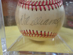 Ted Williams Signed Baseball Bobby Brown