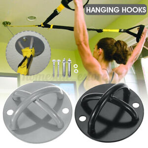 2 Holes Aerial Yoga Bracket Trapeze Hanging Chair Resistance Band Hooks+Screws