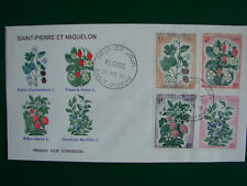 SPM/SAINT PIERRE ET MIQUELON FDC FLOWERS 1970