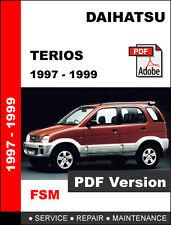 DAIHATSU TERIOS 1997 - 1999 FACTORY OEM SERVICE REPAIR WORKSHOP SHOP FSM MANUAL