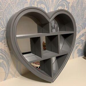 Grey Heart Deep Shelf Wall Mirror Wall Shelf Bath Room  Heart Wall Mirror Shelf