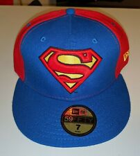 SUPERMAN New Era Hat Cap 7 59 FIFTY Red Blue Superhero Marvel DC Comics Fitted