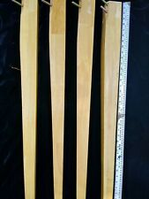 """4 Modern Tapered Square Wood Table Legs 35"""" Light wood color salvage parts"""