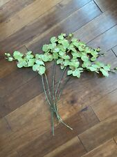 Lot Of 5 Artificial Butterfly Orchid Green Home Decor