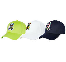 Psycho Bunny Men's Holloway Embroidered Cotton Navy Strapback Hat Baseball Cap