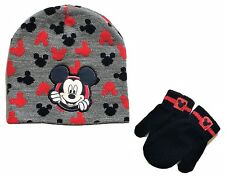 MICKEY MOUSE CLUBHOUSE DISNEY JUNIOR Toddler's Beanie Hat & Mittens Set NWT  $20