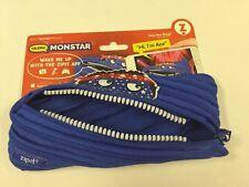 "ZIPIT Talking Monstar Pencil Case.  Blue.  8.6""x0.78""x3.54"""