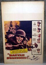 BATTLE STATIONS original 1956 movie poster USS PRINCETON/RICHARD BOONE