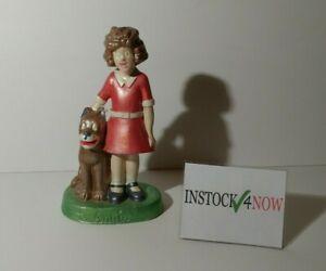 "VINTAGE 1975 8""  LITTLE ORPHAN ANNIE & DOG SANDY CERAMIC FIGURE STATUE"