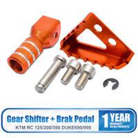 Orange Motorbike Brake Pedal Step Gear Shifter Lever Tip Assy for KTM 125-530cc