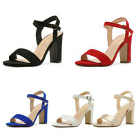DREAM PAIRS Women's Ankle Strap Open Toe Chunky Heel Sandals Pump Dress Shoes