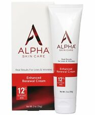 Alpha Skin Care Enhanced Renewal Cream 12% Glycolic AHA, 2 Ounce