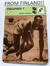 JESSE OWENS 1977 FINNISH Sportscaster card - TRACK AND FIELD - From Finland