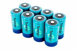 Tenergy 5000mAh C Size High Capacity NiMH Rechargeable Batteries Cell 8-PAC 1.2V
